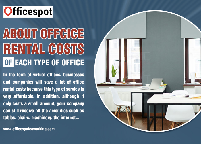 About office rental costs of each type of office